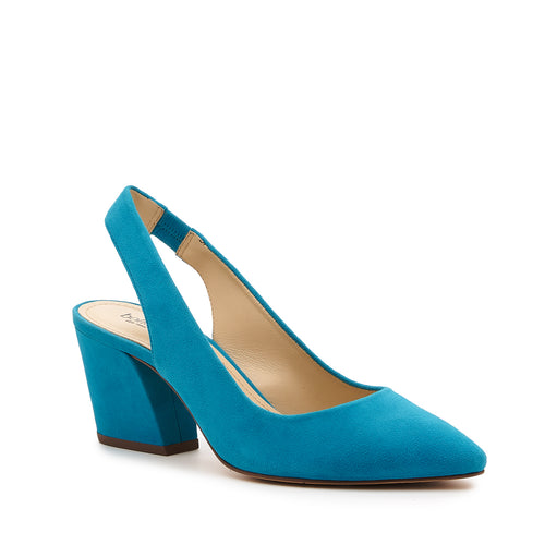 botkier shayla slingback almond toe low heel pump in paradise blue Alternate View