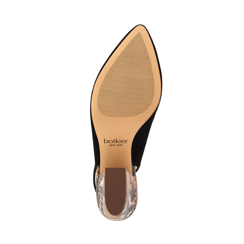 botkier shayla slingback almond toe low heel pump in natural snake