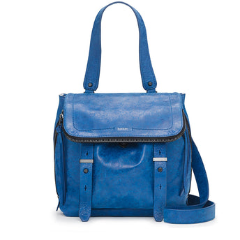 cobalt blue womens designer shoulder bag