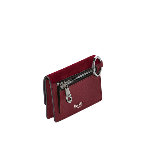 botkier cobble hill card case in bordeaux red Alternate View