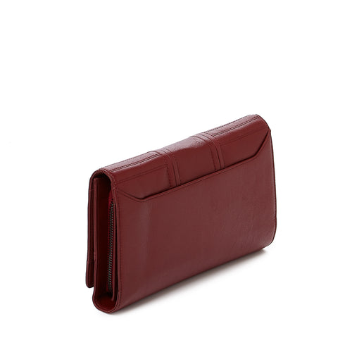 botkier moto wallet on a chain in bordeaux red Alternate View
