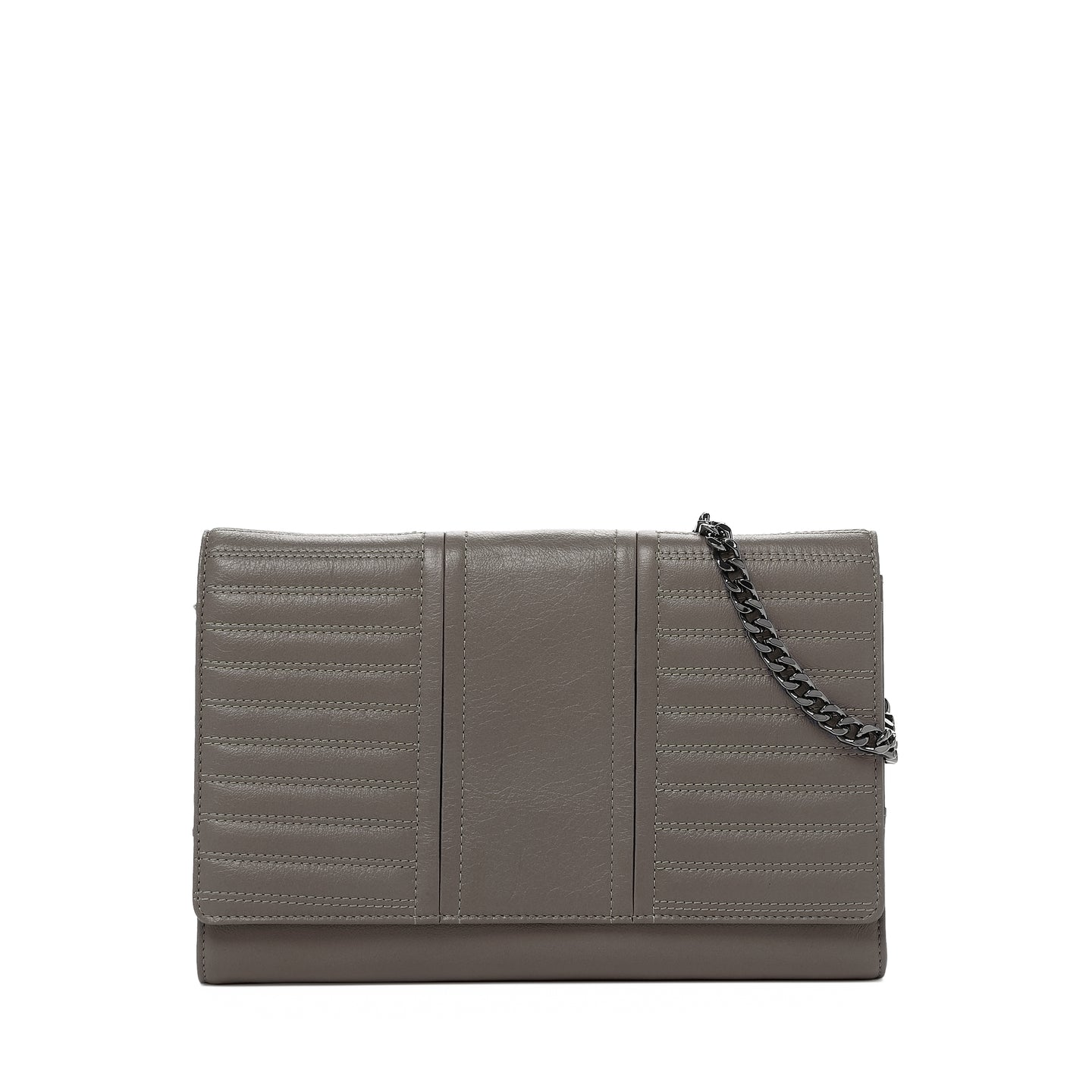 botkier moto wallet on a chain in winter grey