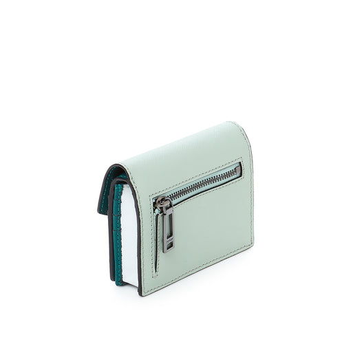 botkier cobble hill mini wallet in emerald combo Alternate View