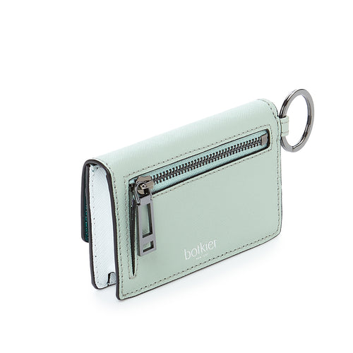 botkier cobble hill card case in emerlad green combo Alternate View