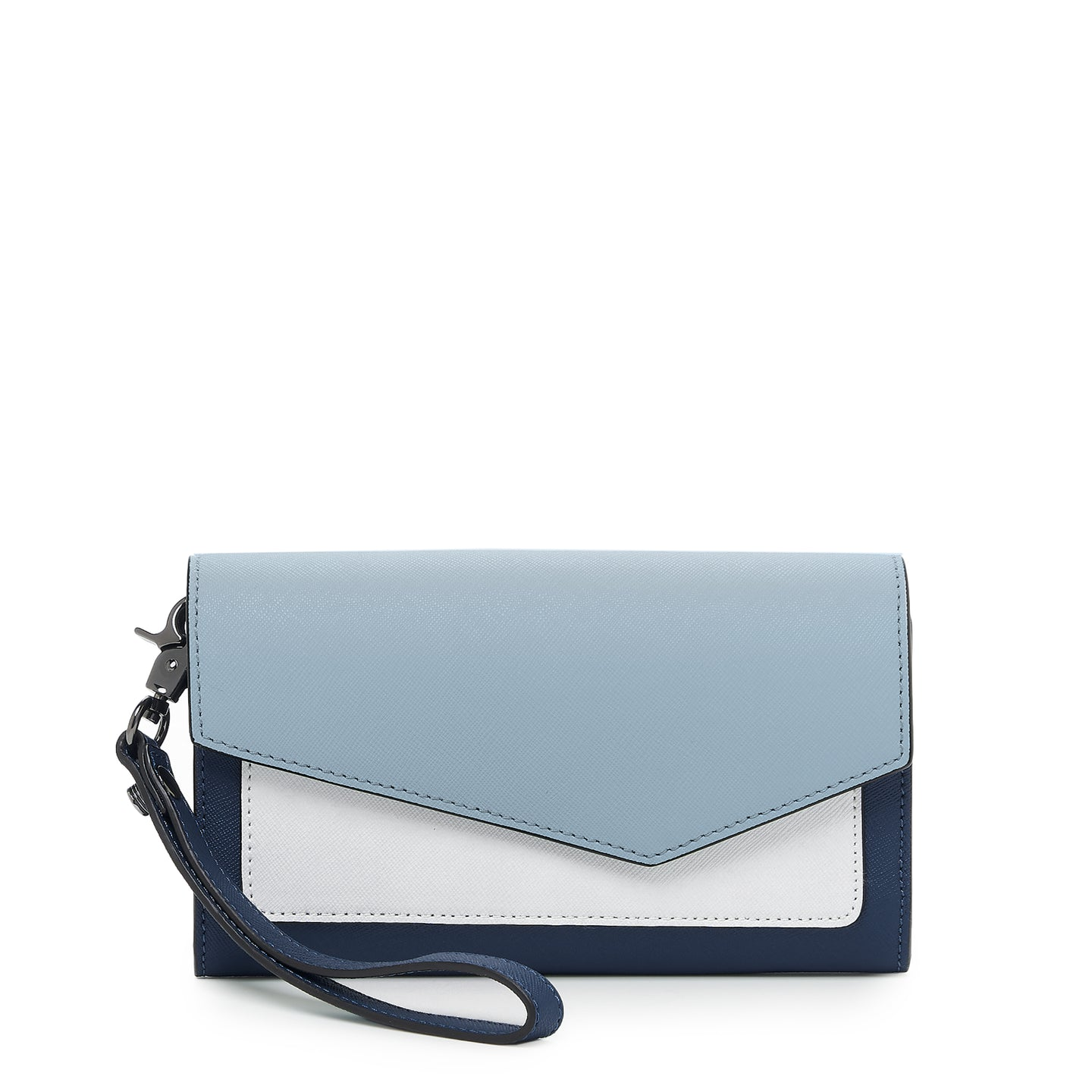 botkier cobble hill flap wallet in ink combo