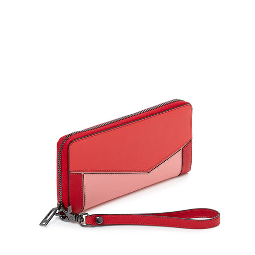 botkier cobble hill zip around wallet in pepper red combo Alternate View