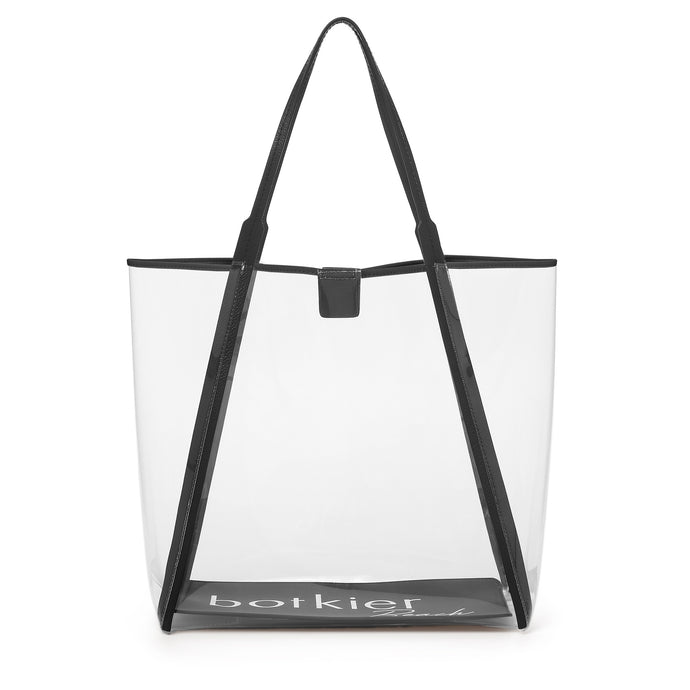 trinity clear tote black
