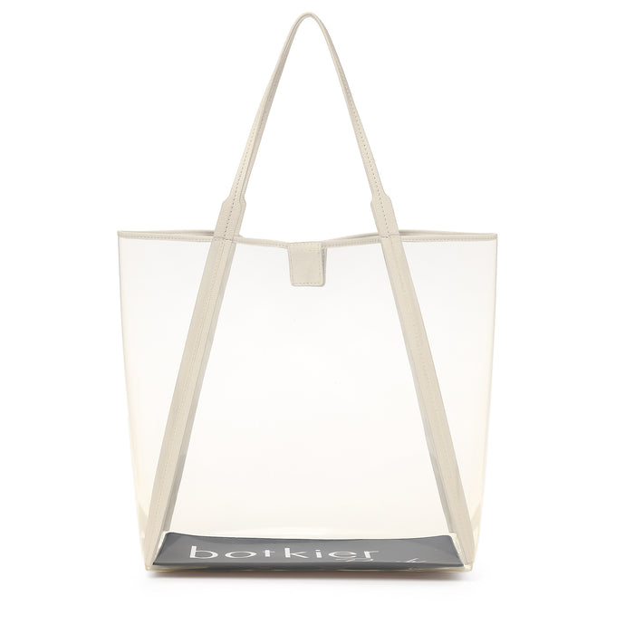 trinity clear tote cream