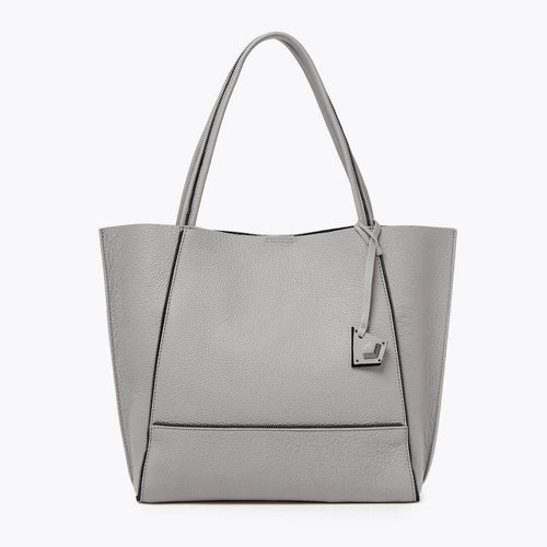 botkier soho zipper detail tote in soft grey