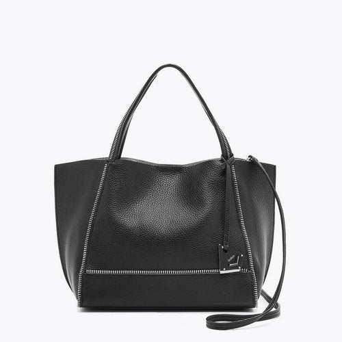 botkier soho bite size zipper detail tote satchel in black