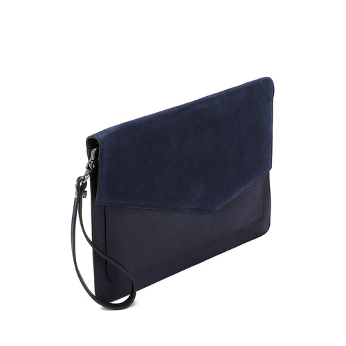 Cobble Hill Flap Clutch (Suede) Alternate View