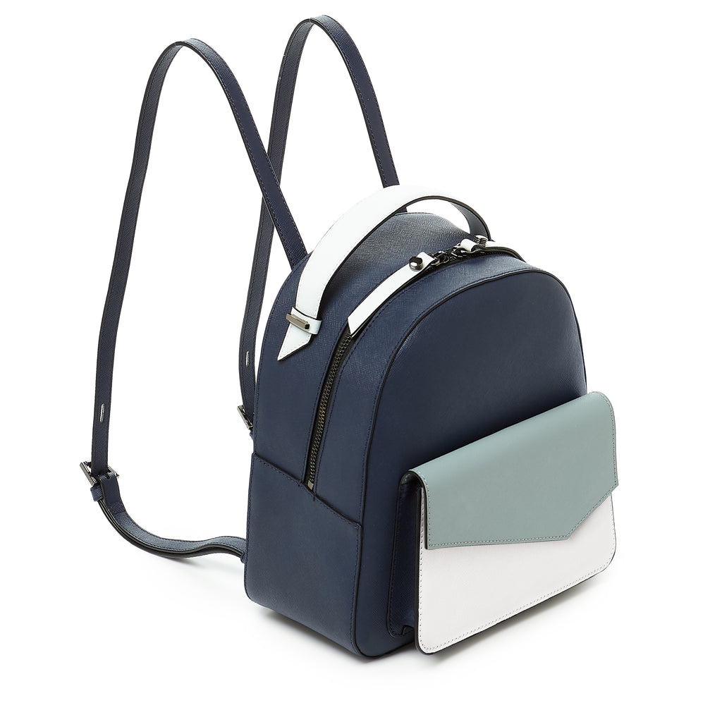 botkier cobble hill backpack ink blue colorblock