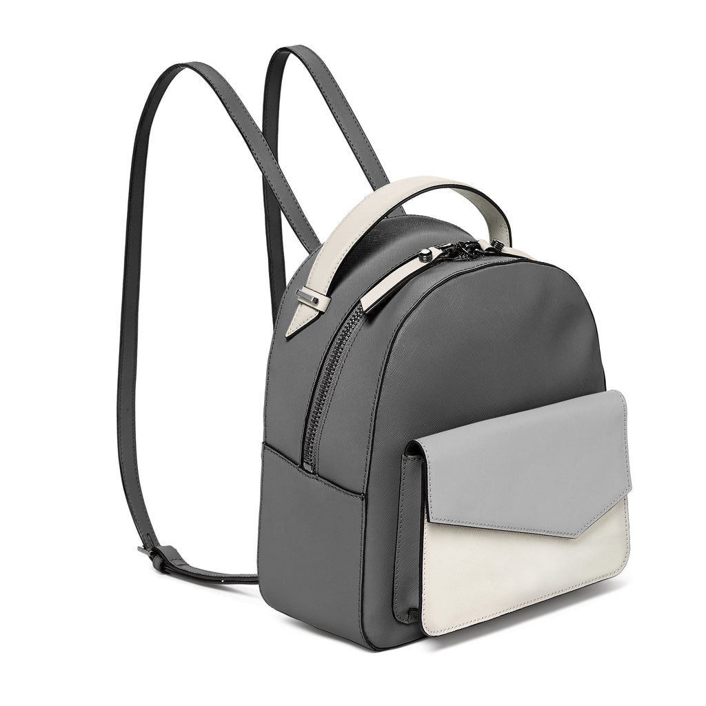 botkier cobble hill backpack in pewter grey colorblock