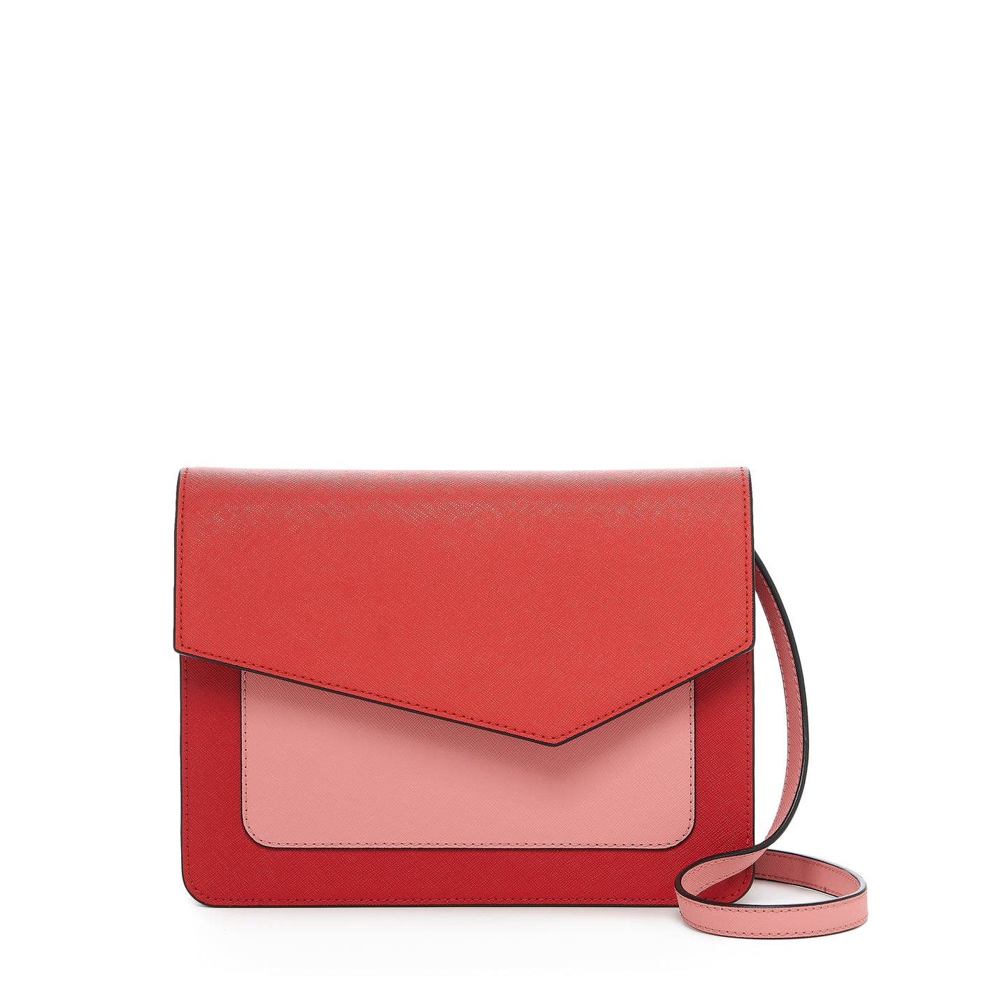 botkier cobble hill square crossbody in pepper red combo