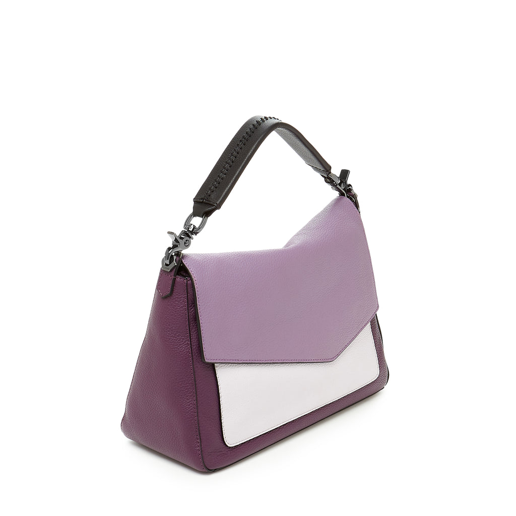 botkier cobble hill mini front flap hobo in purple combo