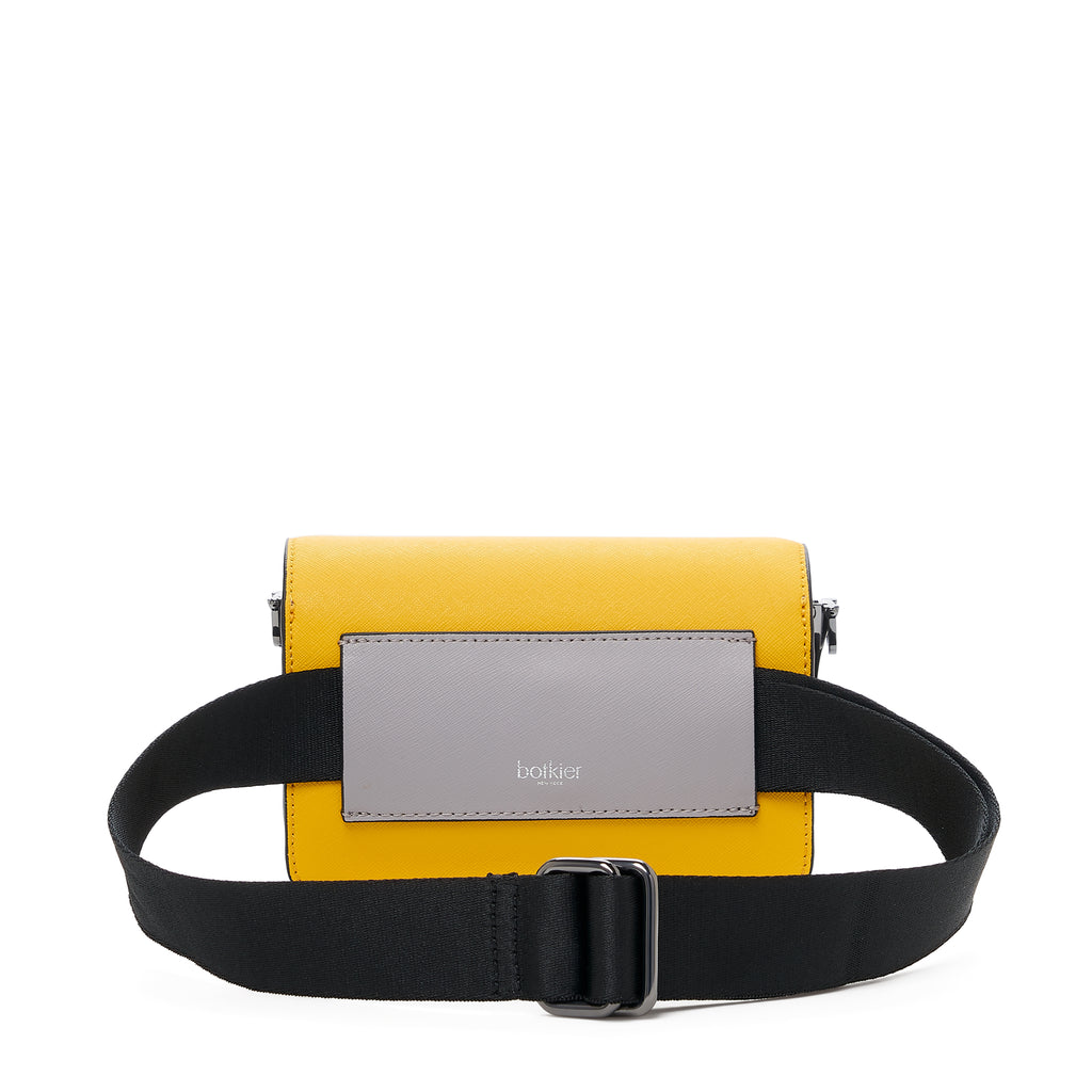 botkier cobble hill mini crossbody marigold pop belt strap