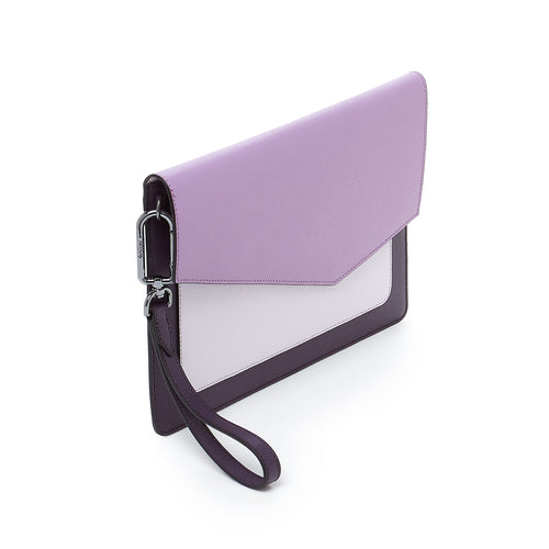 botkier cobble hill flap clutch in purple combo Alternate View