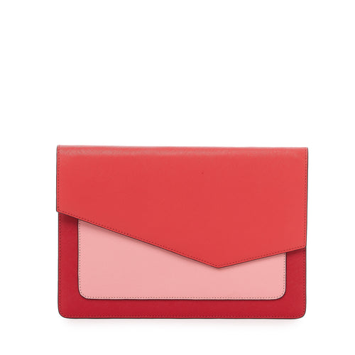 botkier cobble hill flap clutch in pepper combo