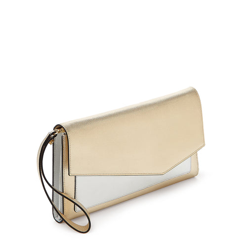 cobble hill clutch in gold colorblock Alternate View