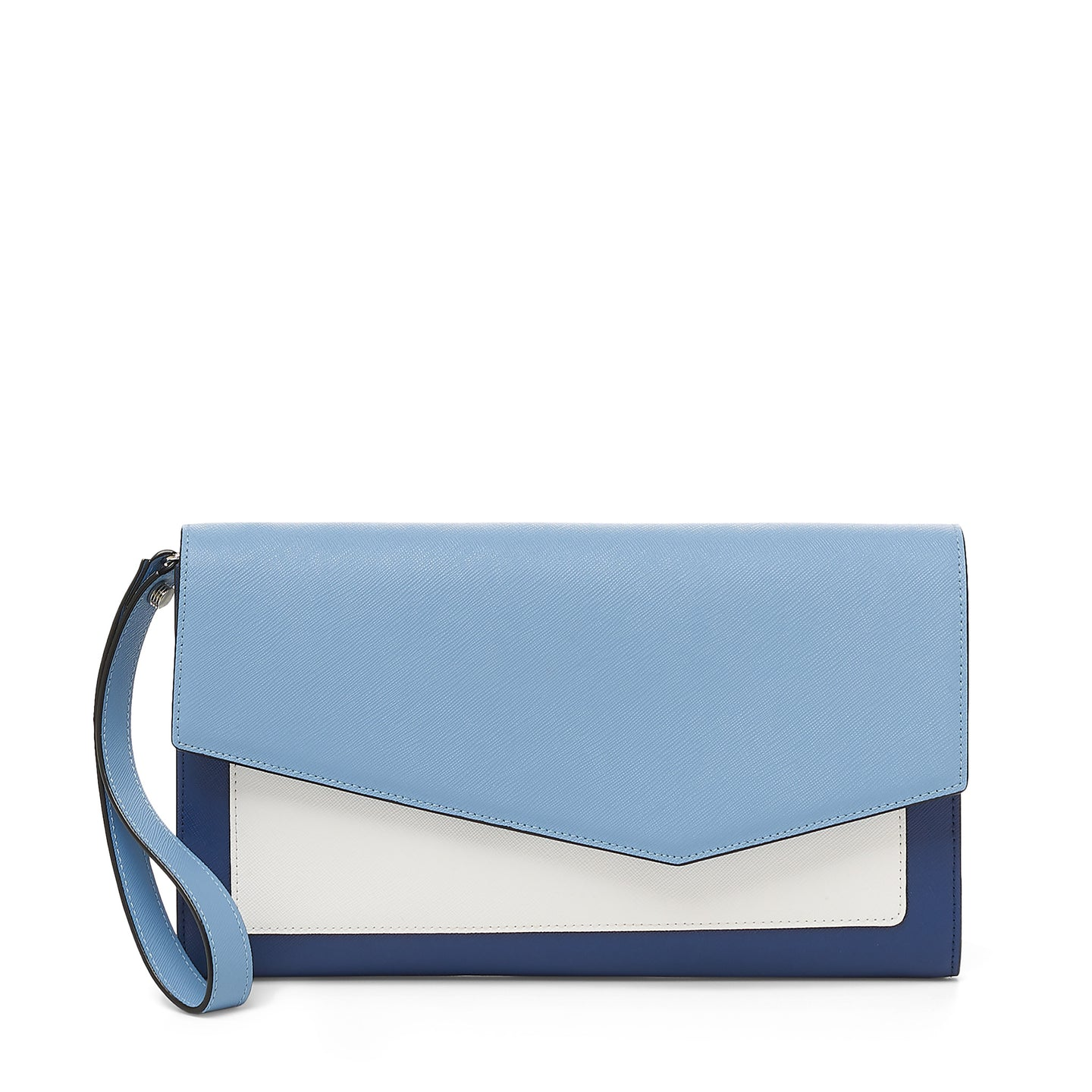 cobble hill clutch in sky colorblock