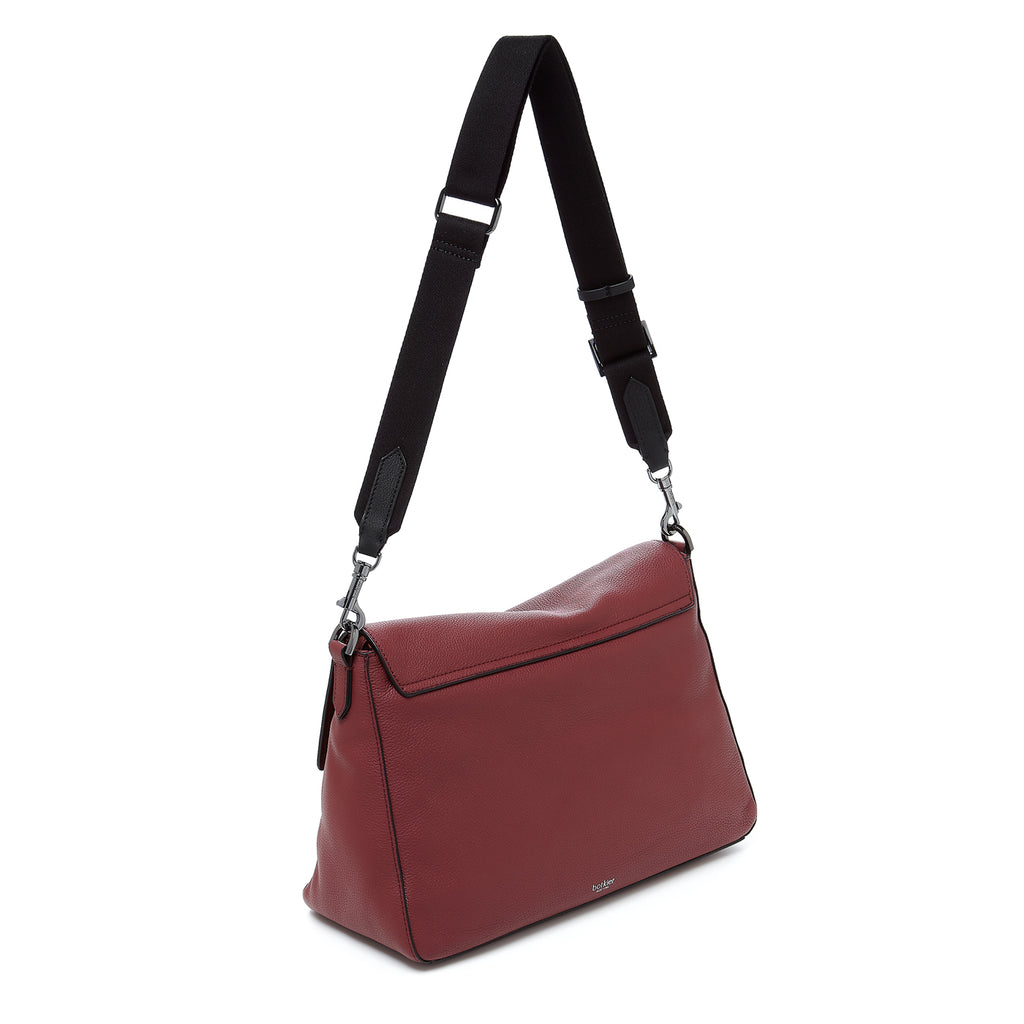 botkier cobble hill hobo cordovan webbed strap