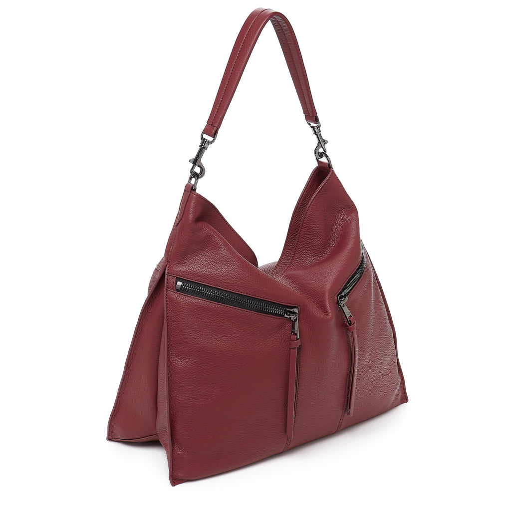 botkier trigger hobo cordovan front angle