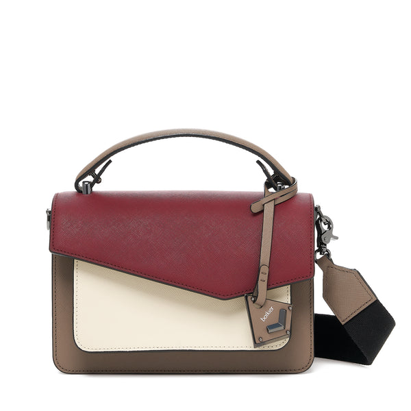 botkier cobble hill crossbody cordovan combo front