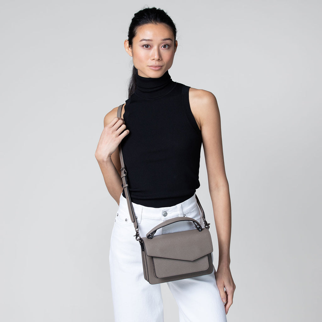 botkier cobble hill crossbody truffle
