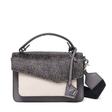 botkier cobble hill crossbody smoke snowfur front