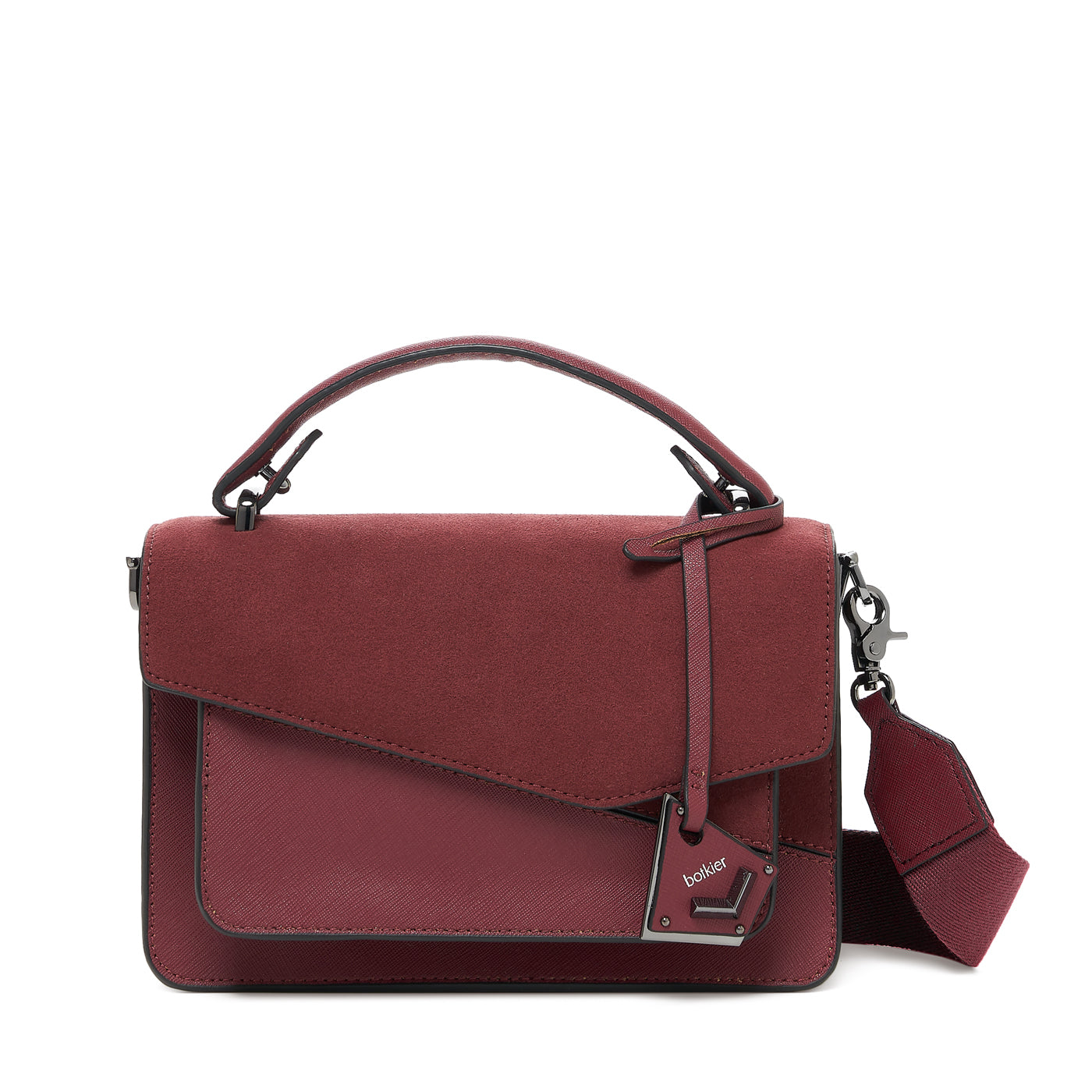 botkier cobble hill crossbody cordovan sliced front