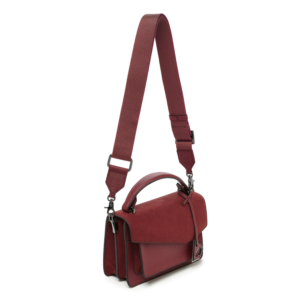 botkier cobble hill crossbody cordovan sliced webbed strap