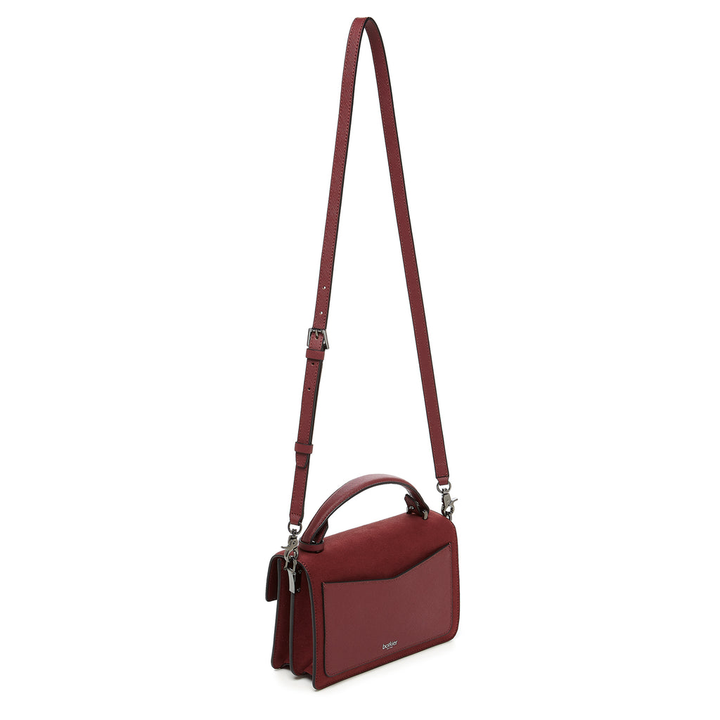 botkier cobble hill crossbody cordovan sliced leather strap
