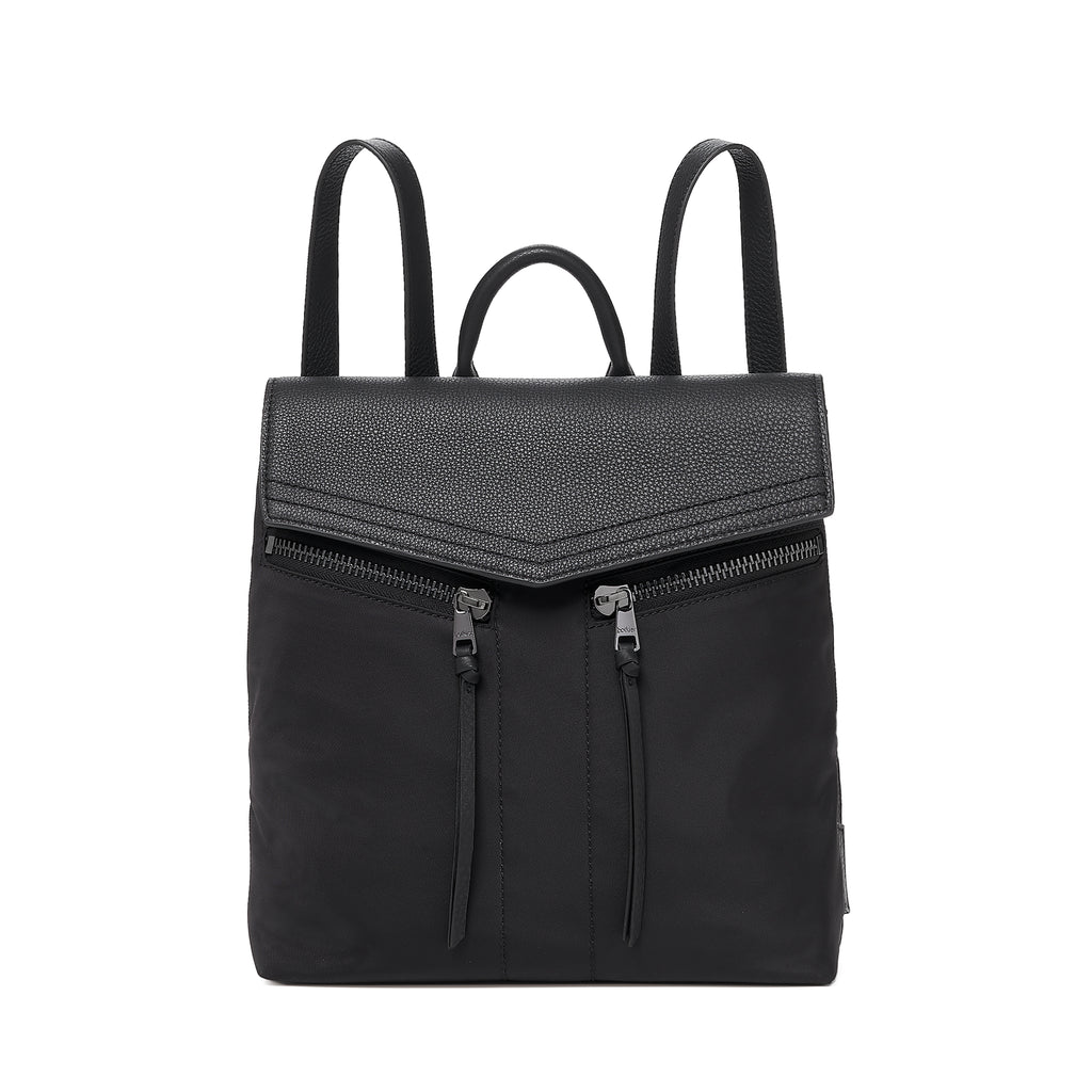 botkier trigger nylon backpack black front