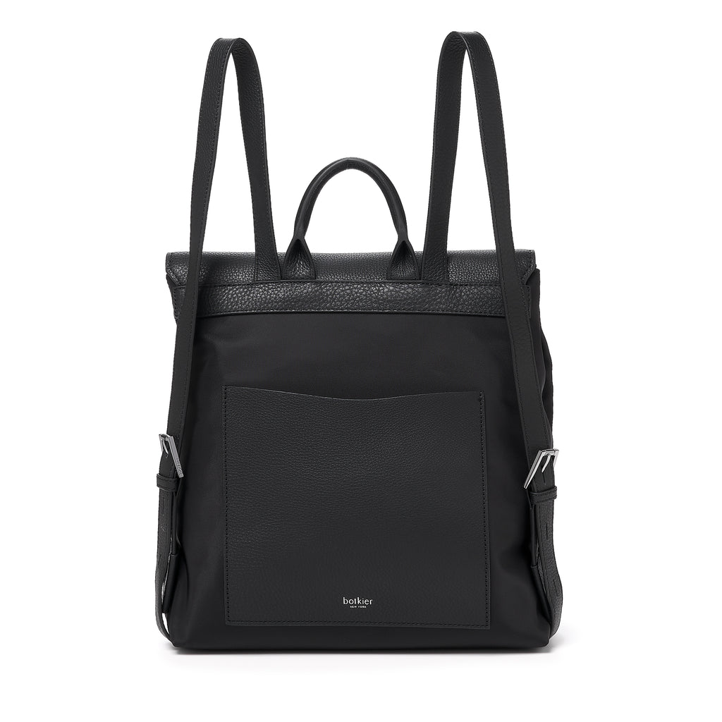 botkier trigger nylon backpack black back