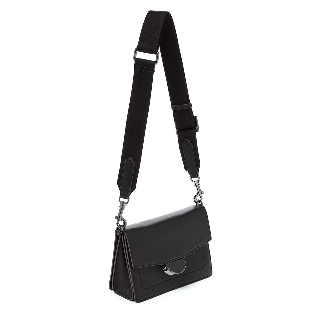 botkier astor crossbody black webbed strap
