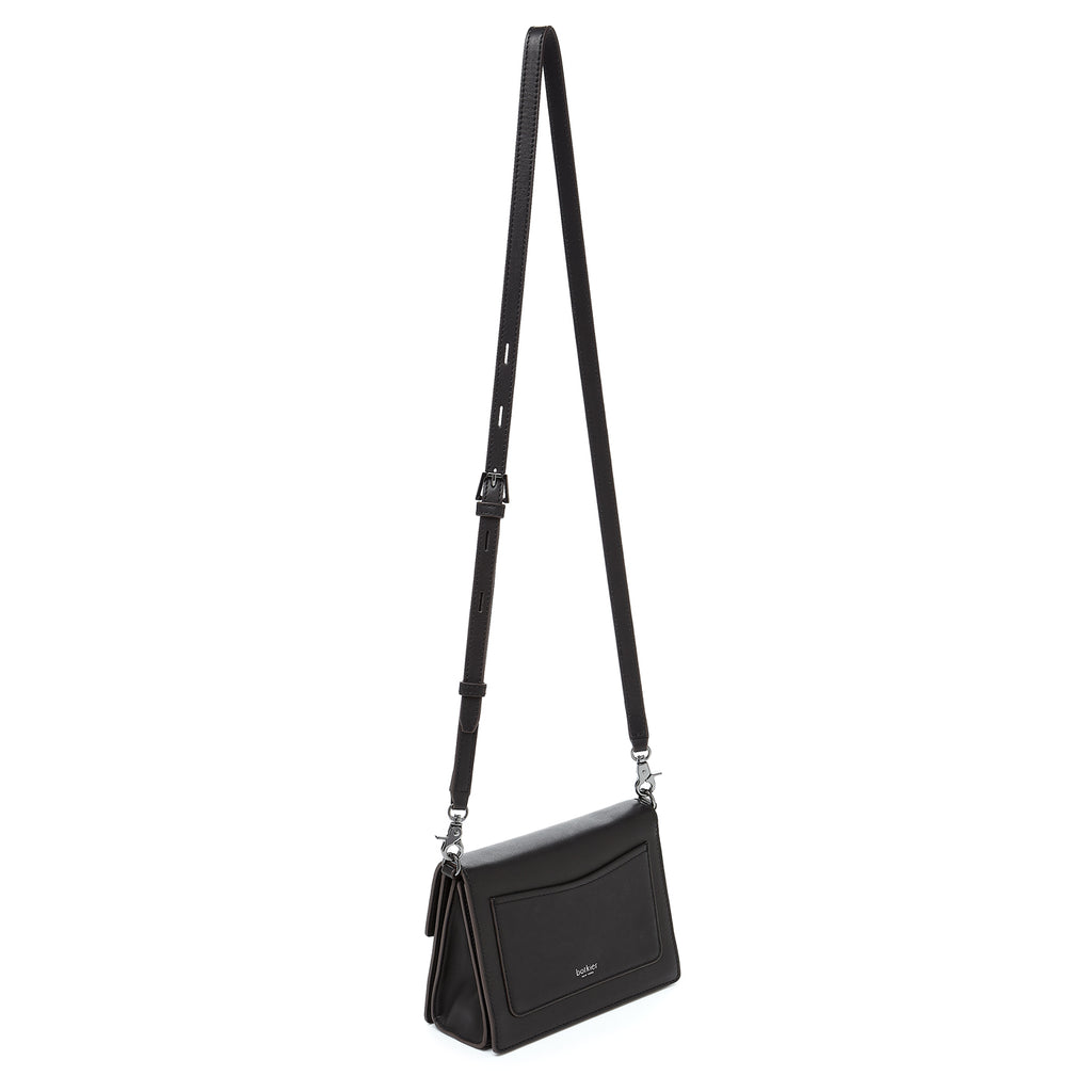botkier astor crossbody black leather strap