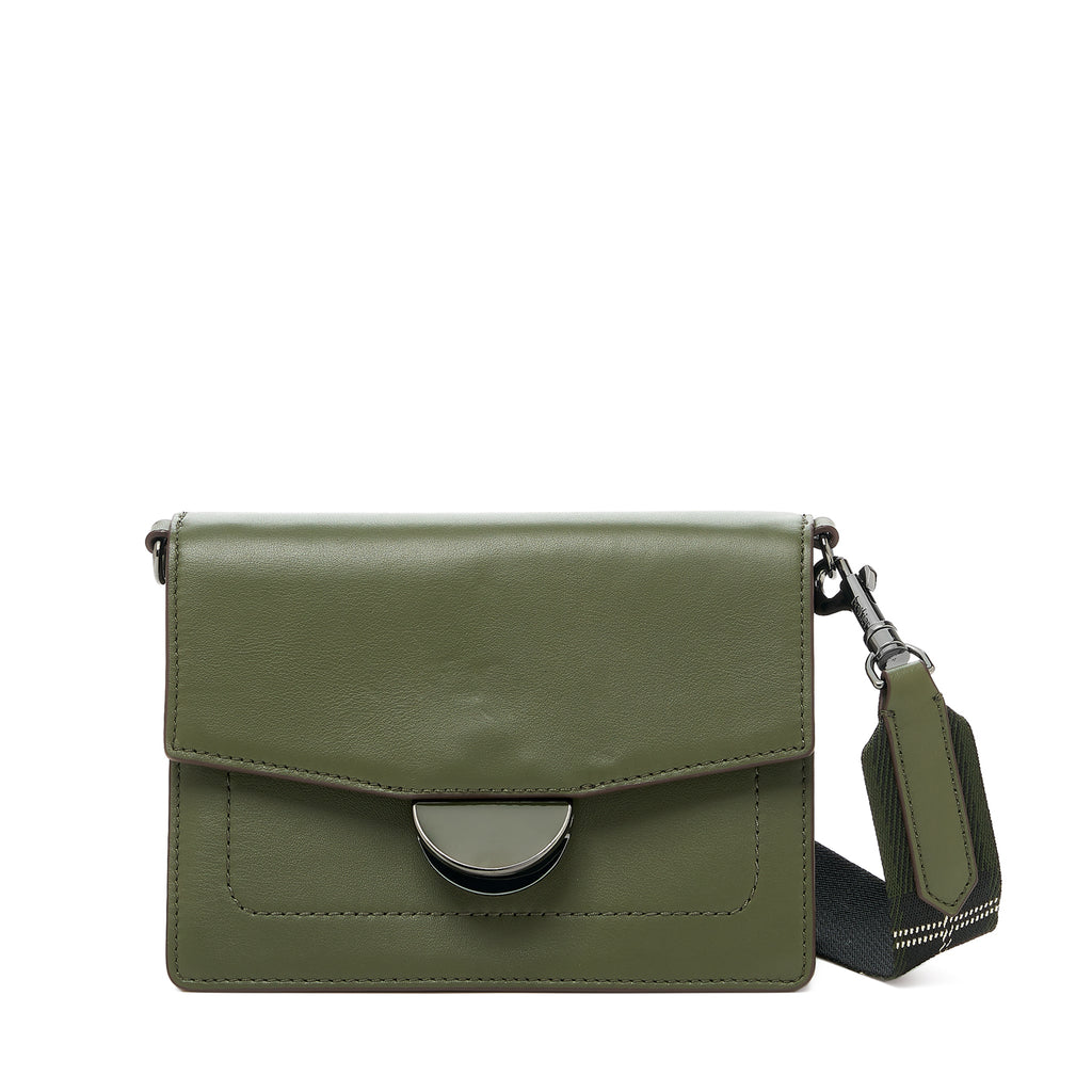 botkier astor crossbody hunter green front