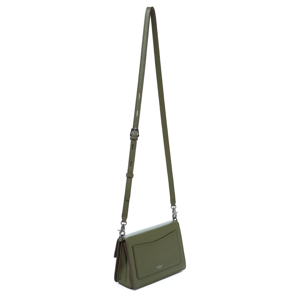 botkier astor crossbody hunter green leather strap