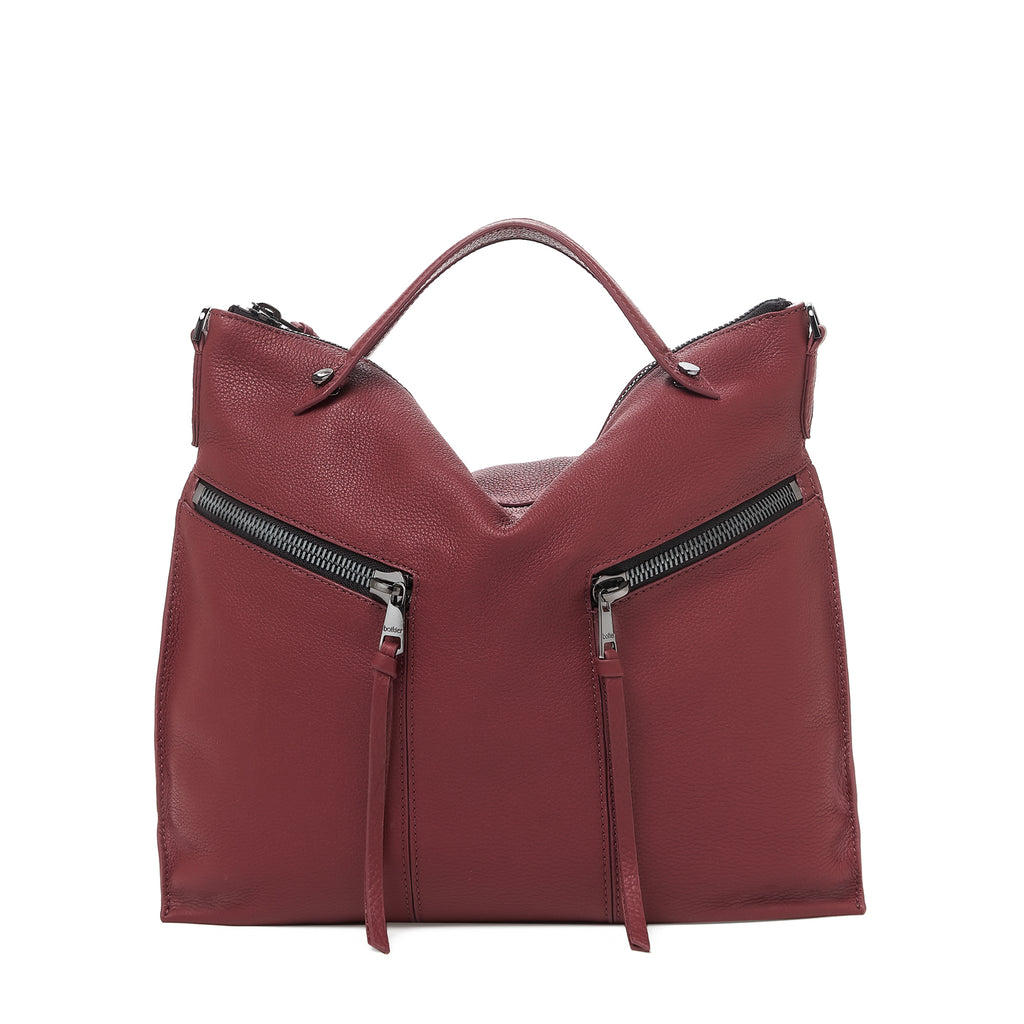 botkier trigger convertible hobo cordovan front