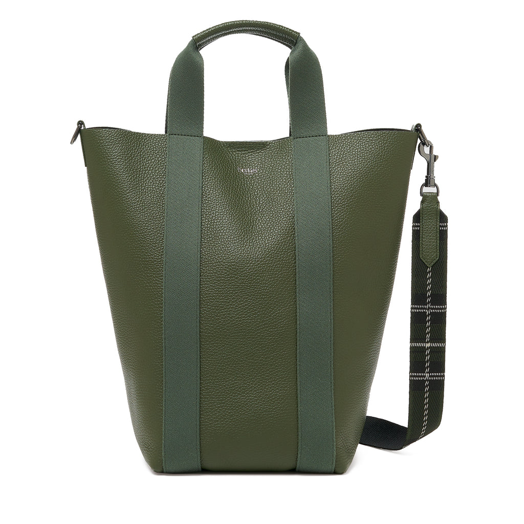 botkier sutton place shopper hunter green front
