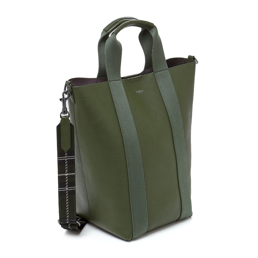botkier sutton place shopper hunter green angle