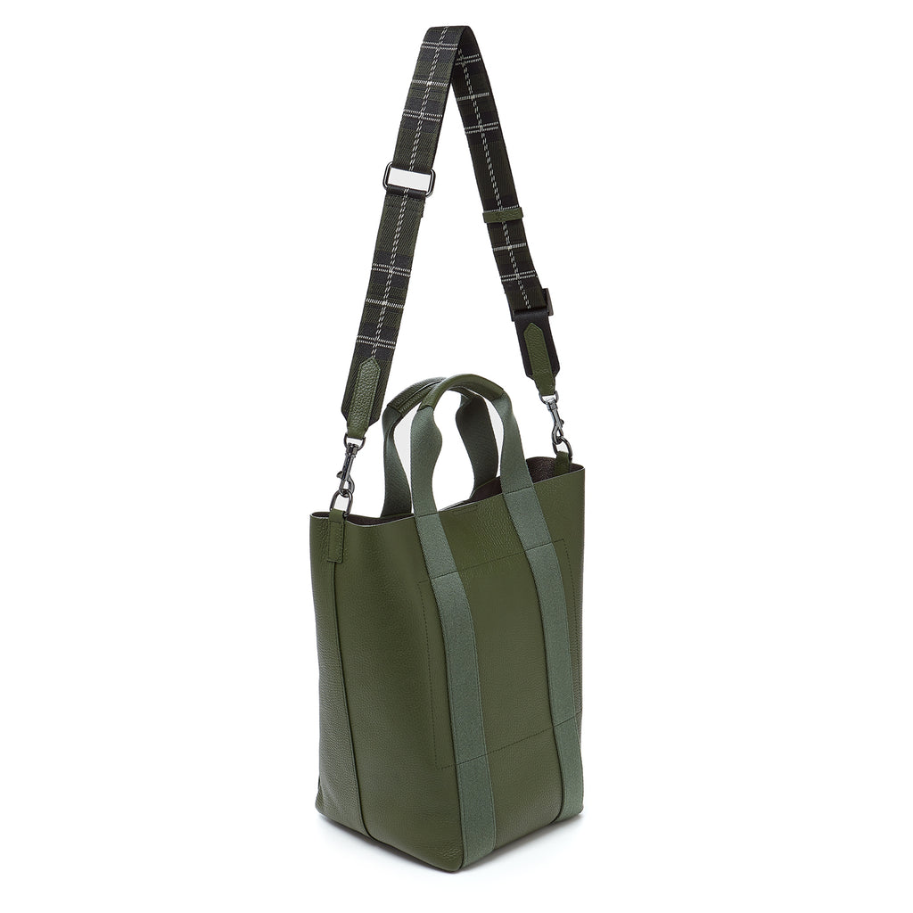 botkier sutton place shopper hunter green back strap up