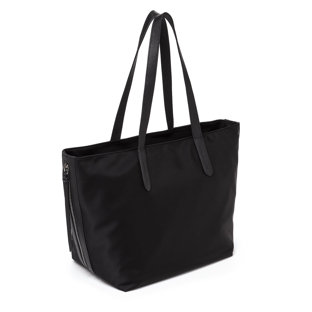botkier bond tote black front back angle