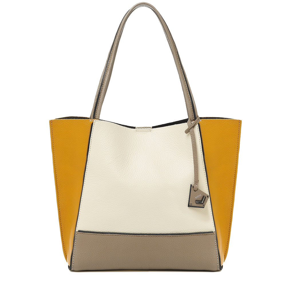 soho tote golden truffle combo front view