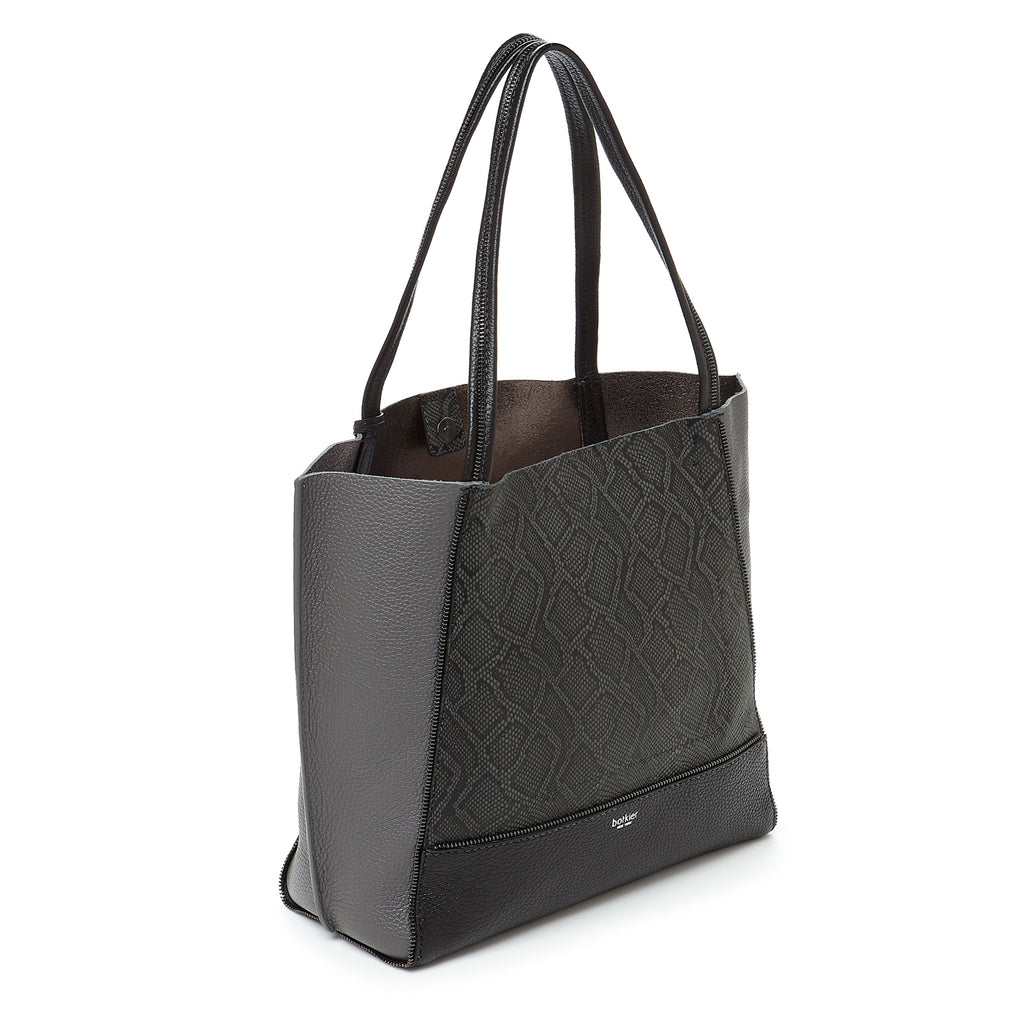 soho tote pewter snake combo back angle view