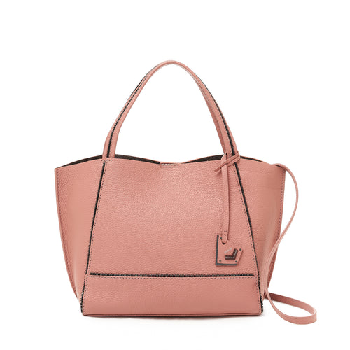 botkier soho bite size tote rose front view