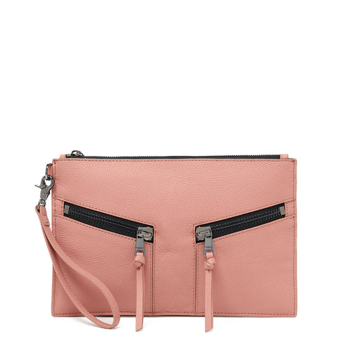 botkier trigger clutch in rose pink