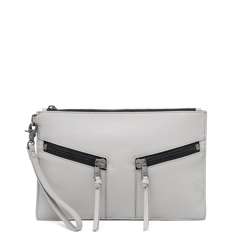 botkier trigger clutch in silver grey