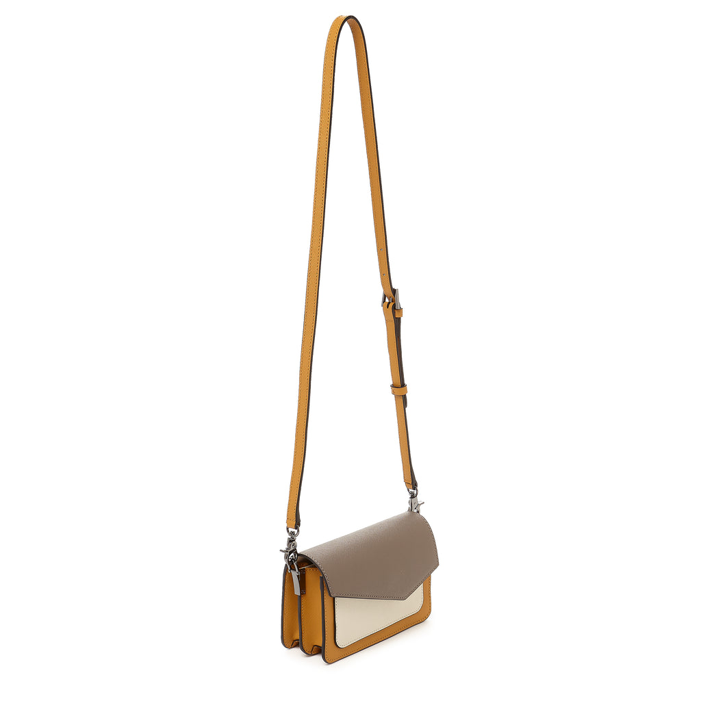 botkier cobble hill mini crossbody truffle colorblock strap up