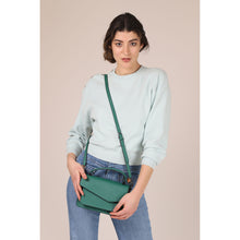 botkier cobble hill structured asymetric flap crossbody in ivy green